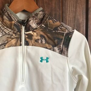 New! Under Armour Cold Gear Half Zip Long Sleeve